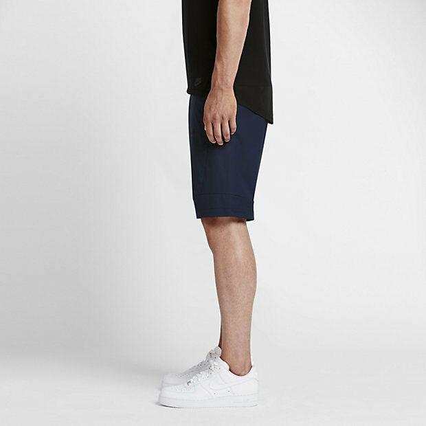 Nike Sportswear Bonded Woven Shorts Obsidian Navy Blue 823365 NSW Size 30