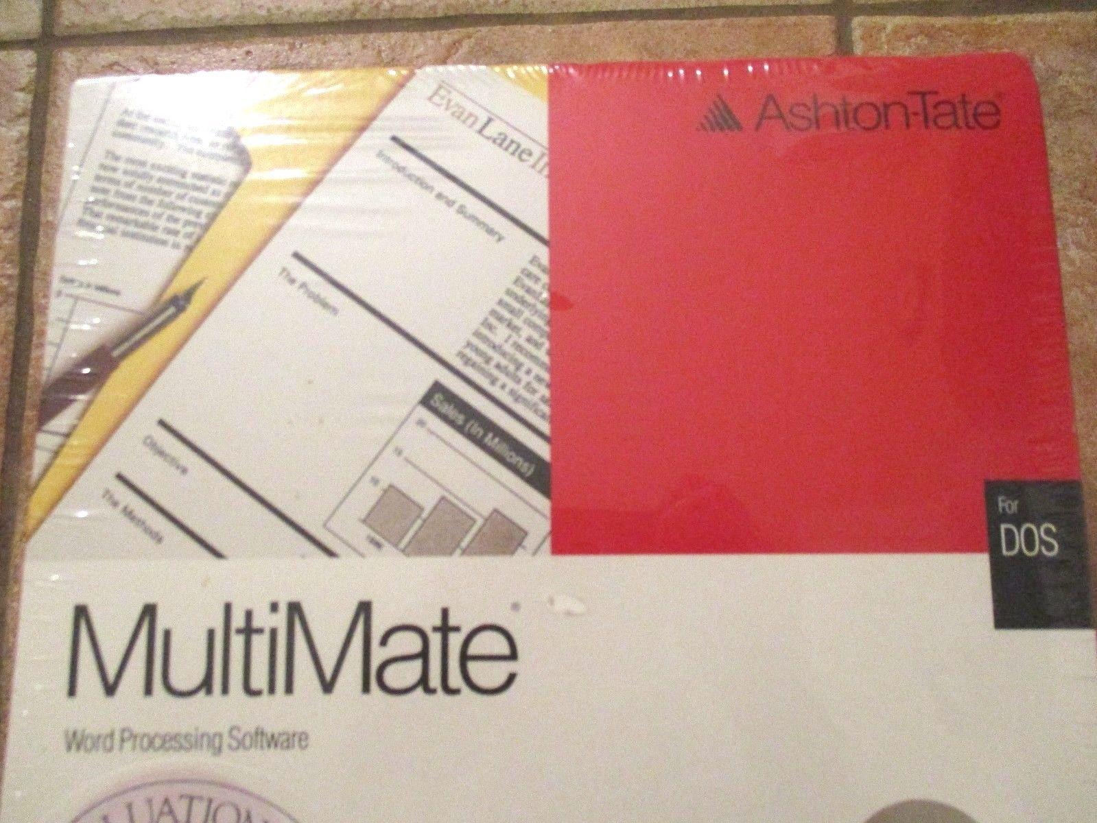 Vintage Ashton-Tate Multimate Word Processing Software ... Multimate