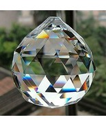 "FACETED CRYSTAL SPHERE 2"" 50mm Clear Feng Shui Rainbow Sun Catcher Prism... - $9.95"