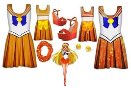 Sailor Venus Skater Dress XS-XXL - MADE  TO ORDER - $39.99+