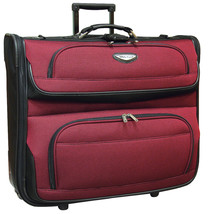 "Travel Select Amsterdam 23"" Red Lightweight Wheeled Rolling Garment Trav... - $1.214,64 MXN"