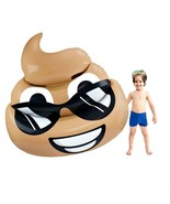 Sol Coastal Inflatable 5.5' Dreamy Deuce Poop Emoji Vinyl Pool Float SPO... - $34.13