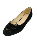 Women's Flats Loafer Velvet Kitty Embroidered Smoking Slipper Slip on Shoes - $29.99+