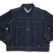 Tommy Hilfiger Vintage 2000 Denim Blue Jean Jacket Size L Adjustable Waist - $38.38