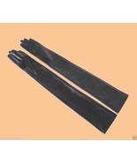 "85cm(33.5"")  Super Long Style Black Sheepskin Leather Opera Evening Gloves - $79.99+"