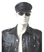 New Men's 100% Real Leather Military Hat /Newsboy Caps / Harley riders hat - $19.99