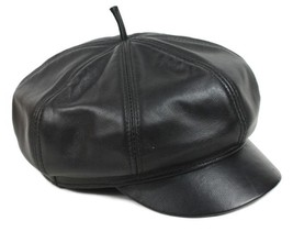 New Design Men's(Unisex)100% Real Leather Newsboy Hat / Beret - $13.85
