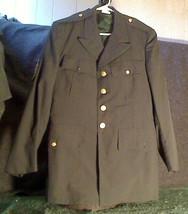 US Army Vietnam Era Men's Dark Green Uniform Jacket 38R Staff Sergeant Patches - $30.00