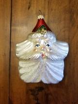 Vintage Dept. 56 Christmas Ornament Santa Star Sparkle Red Pearl Metallic Shine - $19.39