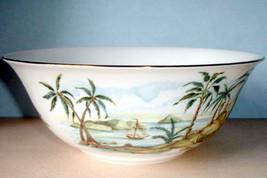 "Lenox British Colonial 9"" Serving Bowl Tropical Scene New - $94.90"