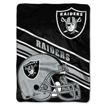 "NFL Raiders Prestige Plush 60"" x 80"" Throw Blanket - $46.53"