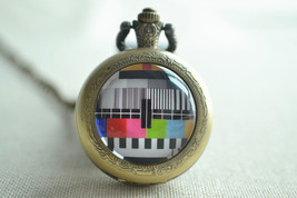 TV Pocket Watch,watch necklace,Childhood memory necklace, Inspiring jewelry - $15.00