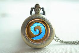 WoW world of warcraft hearthstone pocket watch necklace, locket necklace... - $7.99+