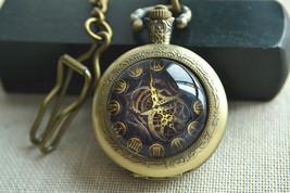 Steampunk Pocket Watch,mechanical watch pattern necklace,quartz watch ne... - $15.00