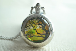 Summer Tree Pocket Watch,Life Tree Picture pendant necklace,Steampunk Fo... - $15.00