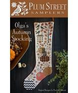 Olga's Autumn Stocking cross stitch chart Plum ... - $14.40