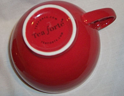 Tea Forte Cafe Tea Cup with Steeping Lid 8 oz Porcelain Red Hard to Find Color!