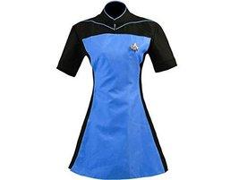 Woman Star Trek TNG Skant Cosplay Costume Uniform Dress Black and Blue - $65.99+