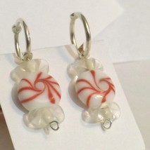 Red glass candy Silver plated stitch markers - $6.00