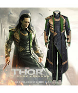 Thor 2: The Dark World Loki Cosplay Movie Costume Leather Outfit Hallowe... - $188.00