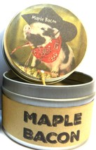 Maple Bacon 4oz All Natural Soy Candle Tin Approximate Burn Time 36 Hours - $5.99