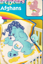 Care Bears bear afghans to crochet pattern leaflet -see pics - $19.17