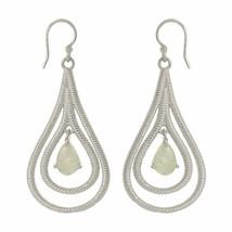 Women Wedding Jewelry Rainbow Moonstone Gemstone 925 Sterling Earring SHER0004 - $33.28