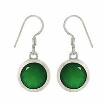 Classic Pendulum Design Earring Green Onyx Gemstone 925 Silver Jewelry SHER0003 - $33.28