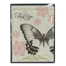 Hallmark TYN7102 10 Count Monarch Butterfly Thank You Note Cards with En... - $7.80