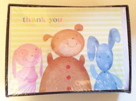 Thank You Notes Box Set 20 Cards with Envelopes Baby, Puppies, Bears Pastel - $5.87