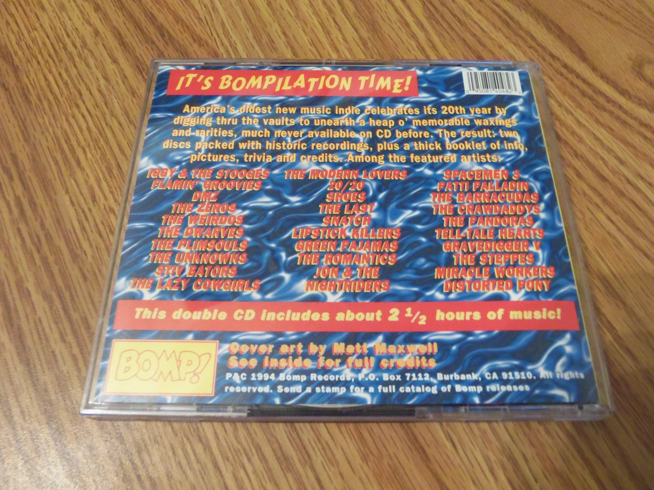 Destination Bomp The Best Of Bomp 2 Cd Iggy and The Stooges Zeros Shoes 20/20