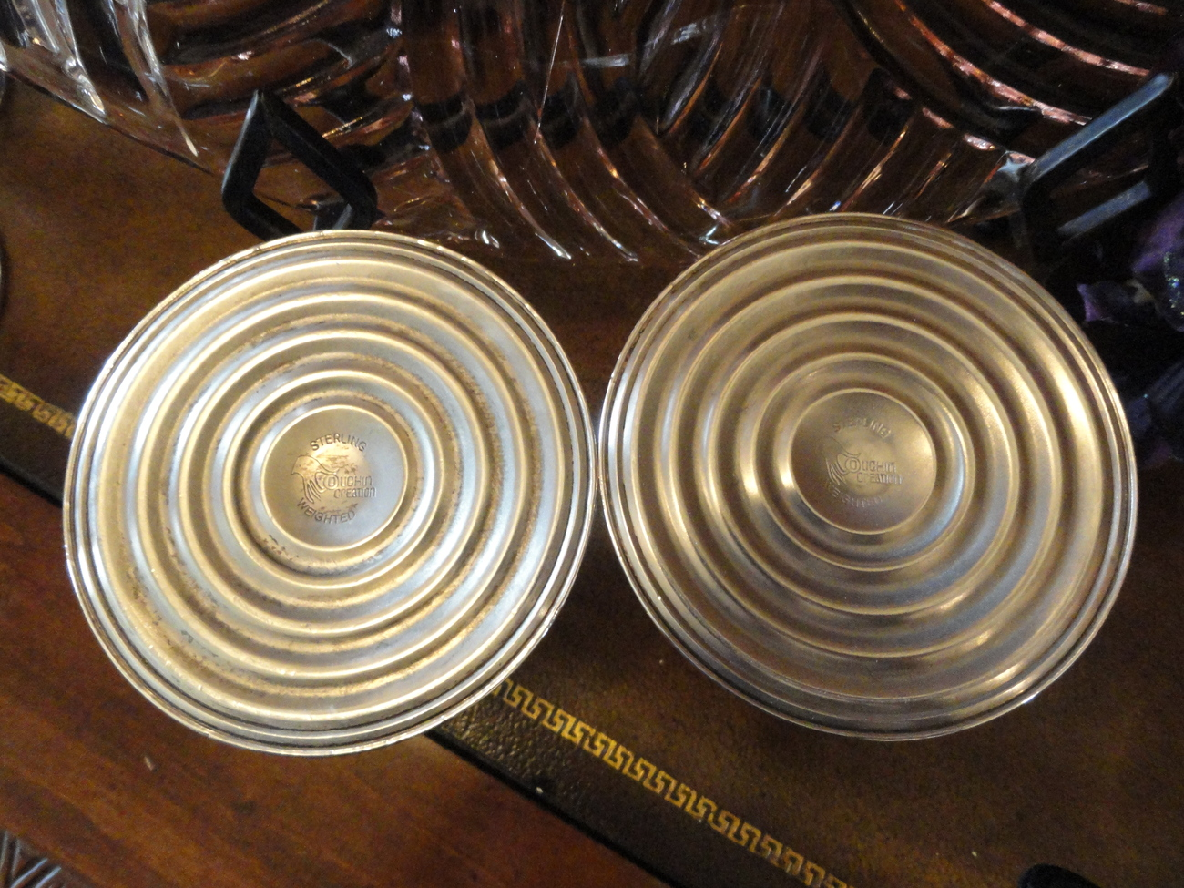 Duchin Creation Sterling Silver Weighted Pierced Work Candle Holders