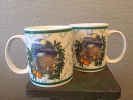 Hilo Hattie Set Of 2 Hawaiian Coffee Mug Cup Island Heritage 2002 Kaua'i - $19.98