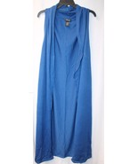 NEW WOMENS PLUS SIZE 4X BRITE BLUE SLEEVELESS LONG OPEN FRONT CARDIGAN D... - $20.31