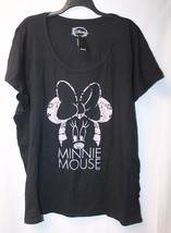 New Torrid Womens Plus Size 5 X Minnie Mouse Pink Lace Scoop Tee Shirt Top - $26.11