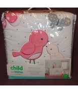 New Child of Mine Bird Butterfly 3-Piece Nursery Set Coverlet Crib Sheet... - $62.39