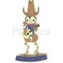 Disney Attractions It's a Small World Character Dangle Cowboy Pin - $17.97