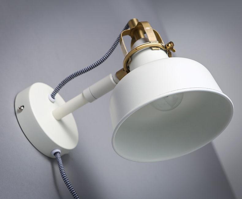 Modern White Tiltable Sconce E27 Light Wall Lamp Plugged Home Lighting Fixture