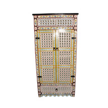 Handpainted Moroccan Cabinet Handmade Beige - $693.00