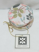 Mary Square 20327 Peach Floral Earbud Case Zip Closure Elastic Bands Inside image 2