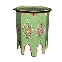 Moroccan Octagonal Hand Painted Accent Table Mo... - $157.41