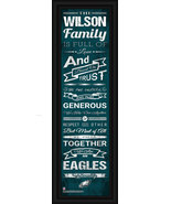 Philadelphia Eagles Personalized Framed Family Cheer 8x24 Print - $39.95