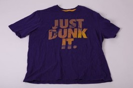 Nike T Shirt Mens Extra Large XL Purple Just Dunk It Regular Fit Basketb... - $12.97