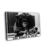THE WORLD IS YOURS Scarface Pacino 16x12 Framed Canvas Print - $25.46