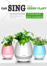 Smart Music Flowerpot Wireless Bluetooth Speaker with LED Night Light US... - $39.00