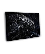 Alien Head H.R. Giger Abstract Art 16x12 Framed Canvas Print - $25.46