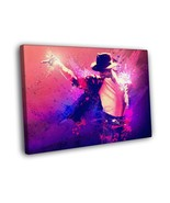 Michael Jackson Singer Splashes Art 16x12 Framed Canvas Print - $25.46