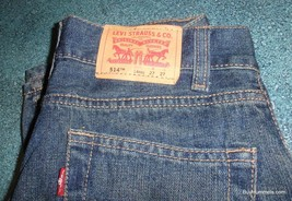 Levis 514 Slim Straight 27 X 27 Blue J EAN S Pants - Fast Shipping! - $2.17