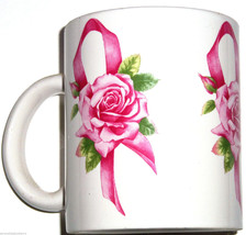 Avon Pink Ribbon Roses Coffee Mug Cup Breast Cancer Awareness Tea  - $12.97