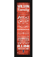 Personalized Illinois Fighting Illini - 24 x 8 Family Cheer Framed Print - $39.95